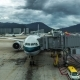Airplane Boeing Ready For Boarding In Hong Kong Airport.   - August 2016, Hong Kong - VideoHive Item for Sale