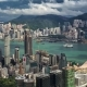Aerial View Of Hong Kong Island From Sky100.   - August 2016, Hong Kong - VideoHive Item for Sale