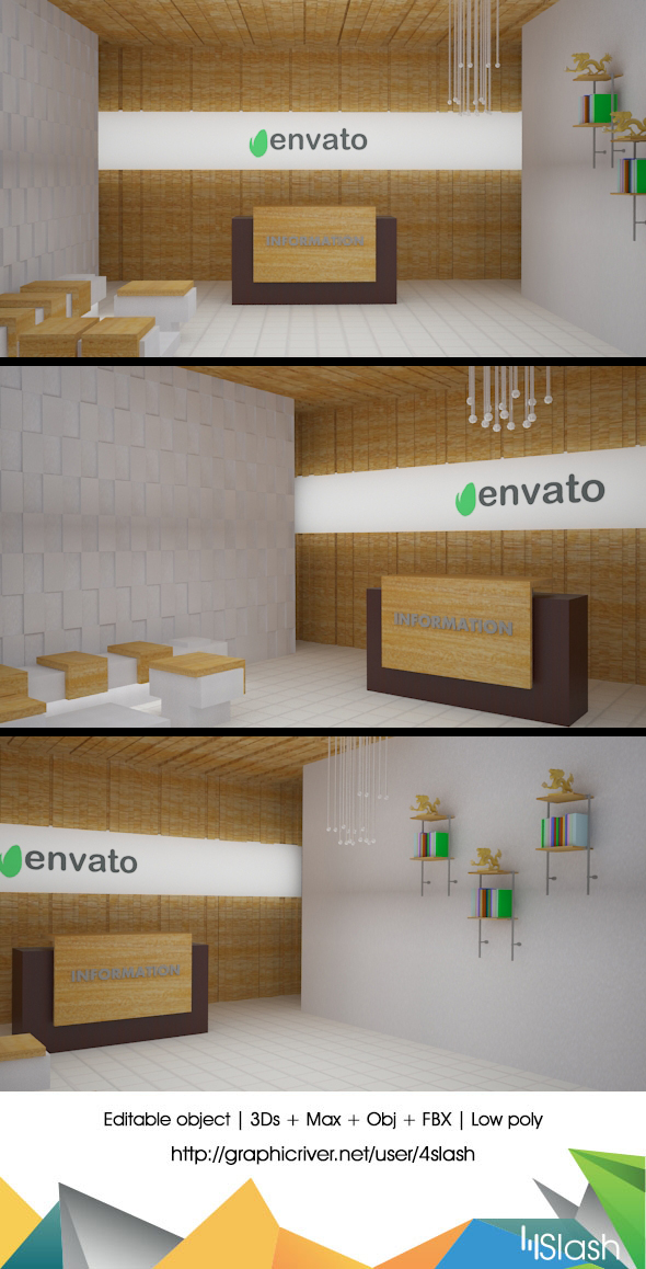 3D Office Reception - 3DOcean Item for Sale