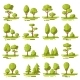 Forest Flat Elements Set - GraphicRiver Item for Sale