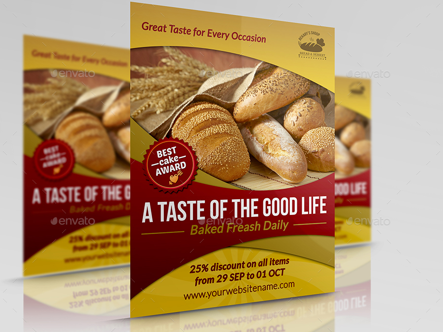 Bakery Advertising Bundle By Owpictures Graphicriver