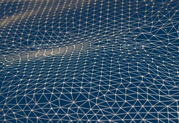 Abstract Background Of Links And Connections Nodes - 3D Backgrounds
