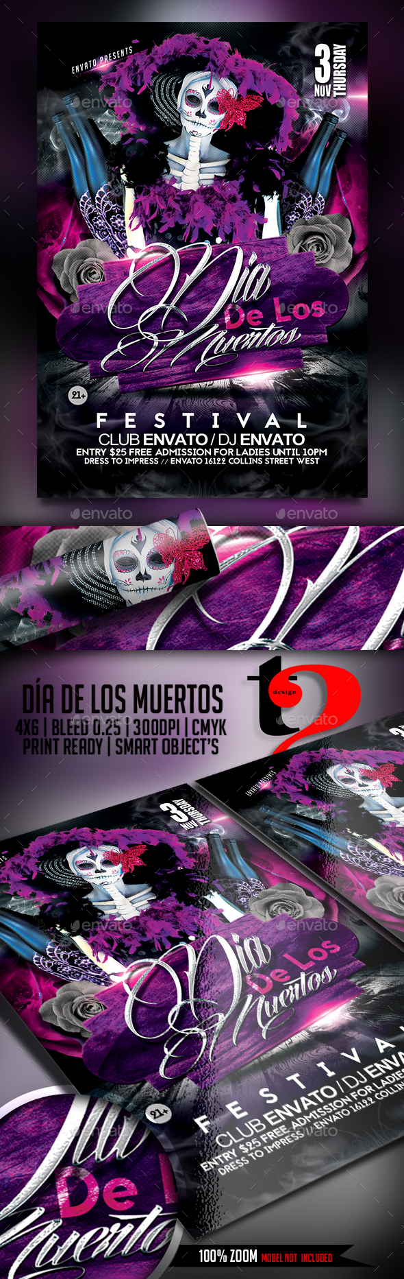 Dia De Los Muertos Flyer - Clubs & Parties Events