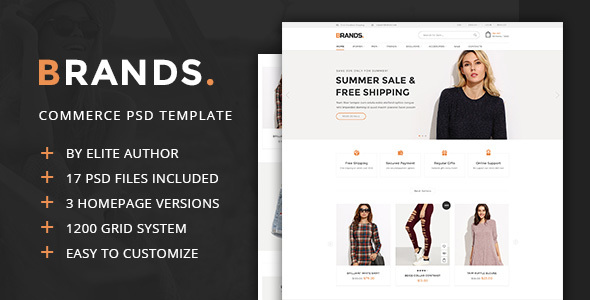 Brands – Commerce PSD Template