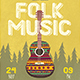 Folk Music Flyer Template