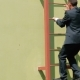 The Man In Suit Climb Up The Stairs - VideoHive Item for Sale