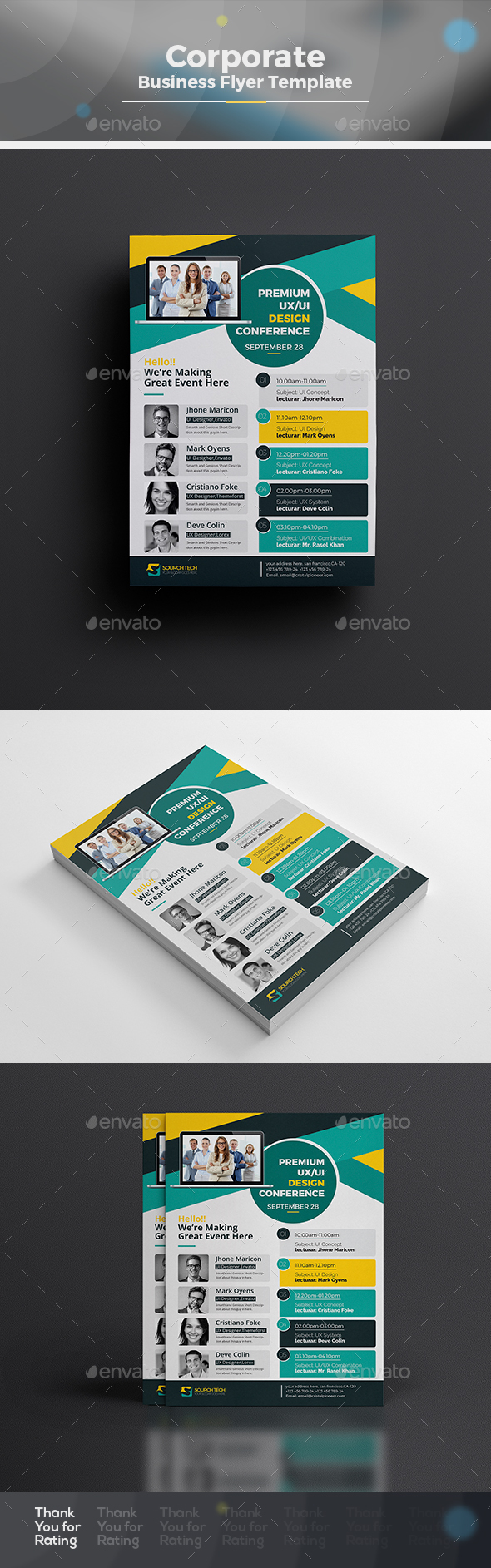Event/Conference Flyer Template - Corporate Flyers