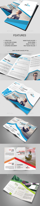 2 in 1 Tri-fold Brochure Bundle - Brochures Print Templates
