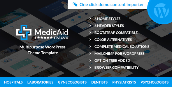 MedicAid – Medical and Hospital – Multipurpose WordPress theme