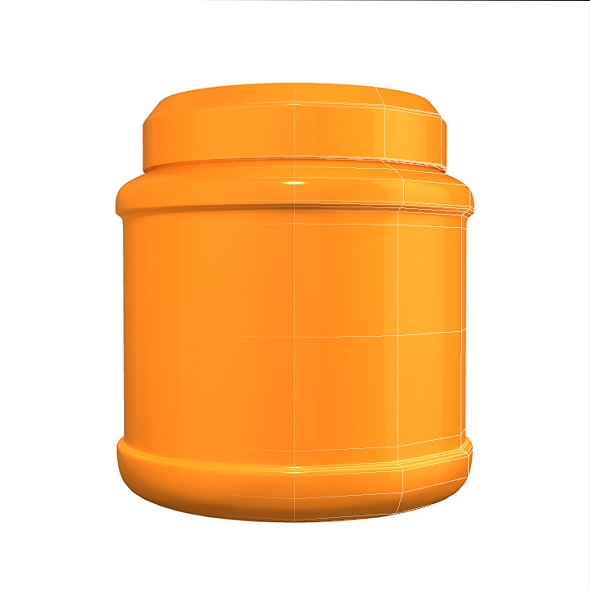 Orange Treatment Jar - 3DOcean Item for Sale