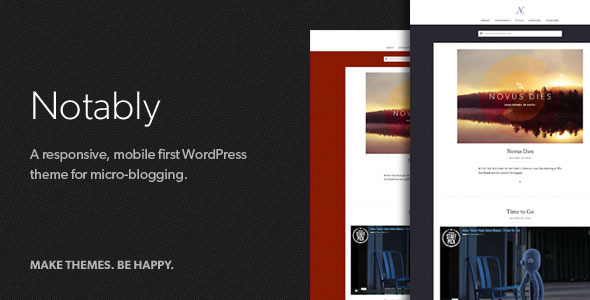 Notably - A WordPress Blogging Theme - Personal Blog / Magazine