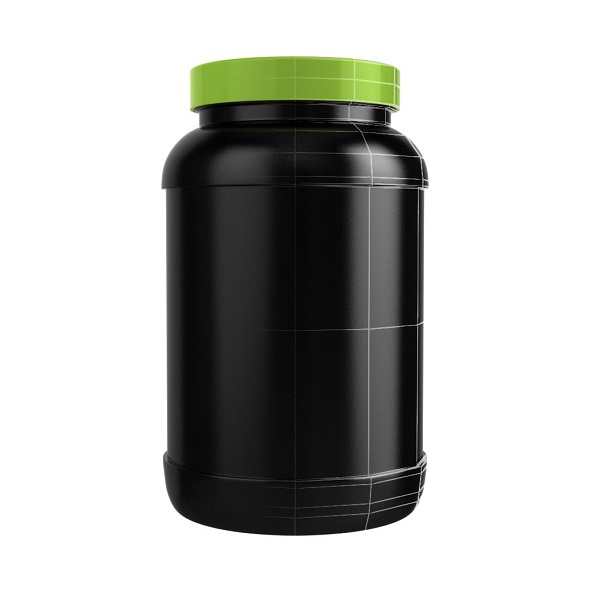 Protein Bottle with Green Cap - 3DOcean Item for Sale