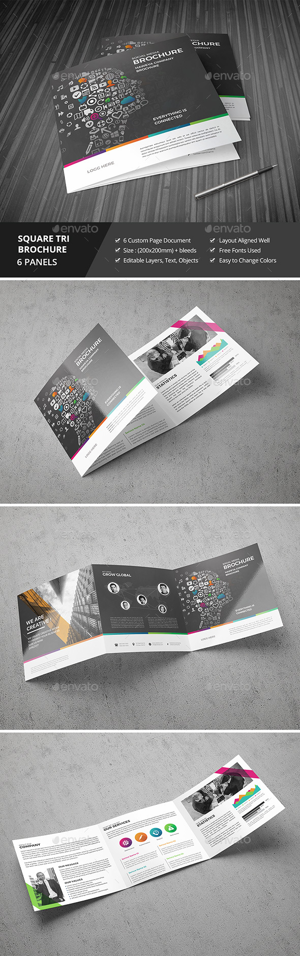 Haweya Tri-Fold Square Brochure 10 - Corporate Brochures