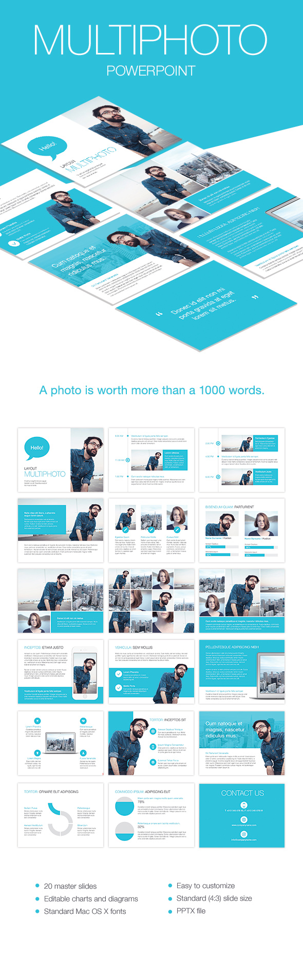 Cerulean PowerPoint Template - Presentation Templates