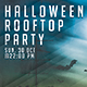 Halloween Rooftop Party Flyer Template