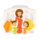 Happy Woman with Kids on Shopping - GraphicRiver Item for Sale