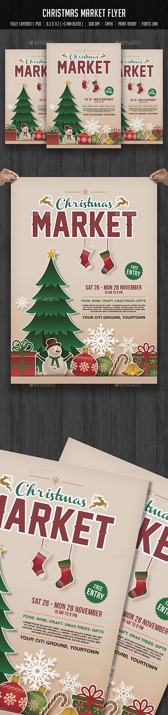 Christmas Market Flyer - Flyers Print Templates