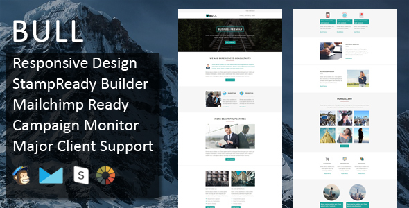 Bull – Multipurpose Responsive Email Template + Stampready Builder