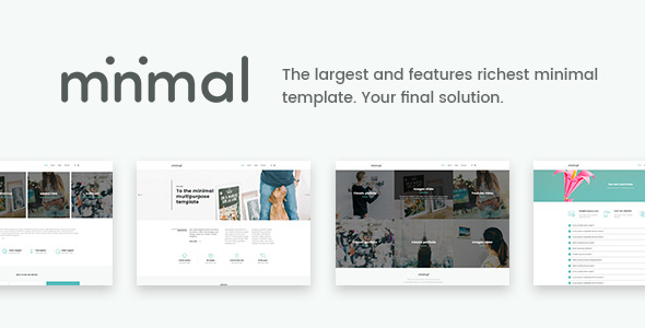 Minimal - The Final Minimal Solution - Corporate Site Templates