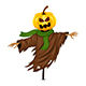 Scarecrow for Halloween Isolated - GraphicRiver Item for Sale