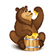 The Bear Eats Honey - GraphicRiver Item for Sale