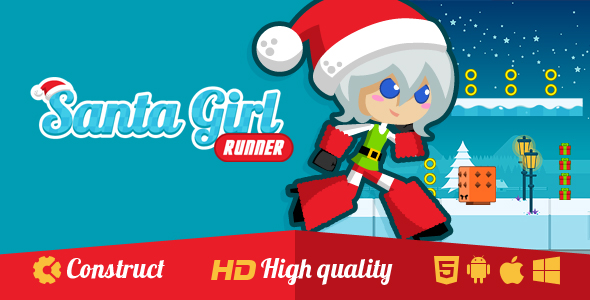 Santa Girl Runner - CodeCanyon Item for Sale