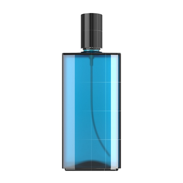 Blue Glass Spray Bottle - 3DOcean Item for Sale