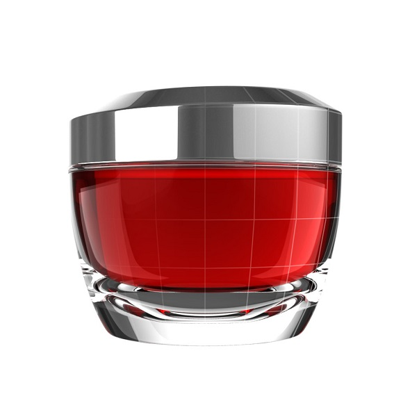 Red Glass Skincare Jar - 3DOcean Item for Sale