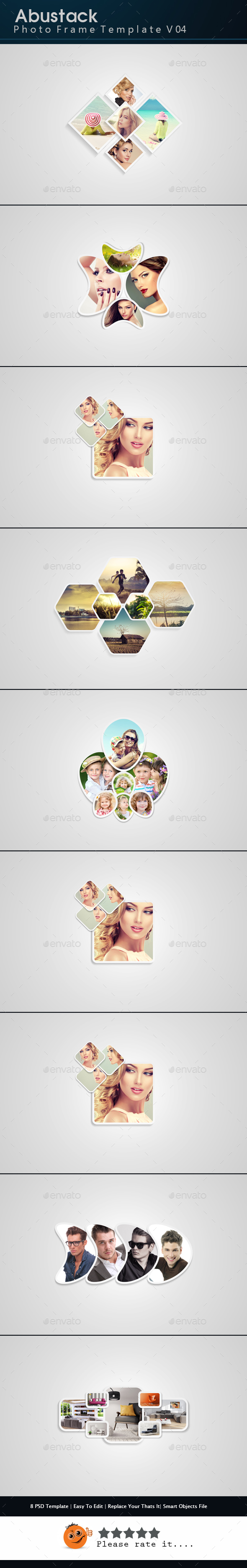 Abustack Photo Frame Template V04 - Photo Templates Graphics