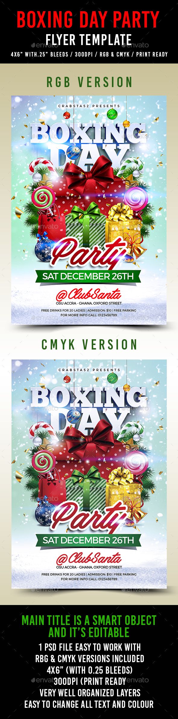 Boxing Day Party Flyer Template - Events Flyers