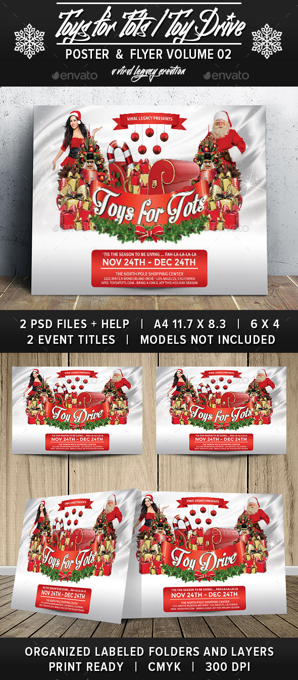 Toys For Tots Flyers Printable : Toys tots toy drive v by viral legacy graphicriver
