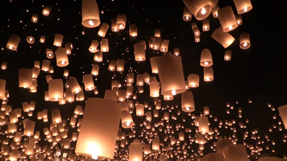 Yee Peng, Festival of Lights and Illuminated Flying Lanterns