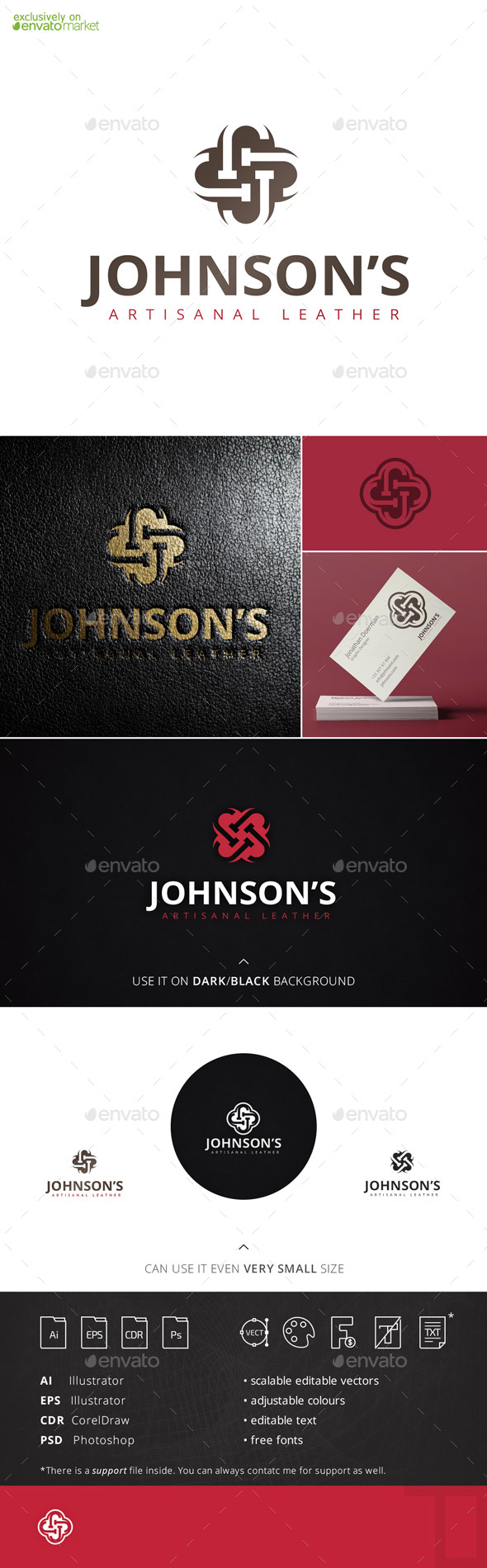 Johnsons Letter J Logo Template - Letters Logo Templates