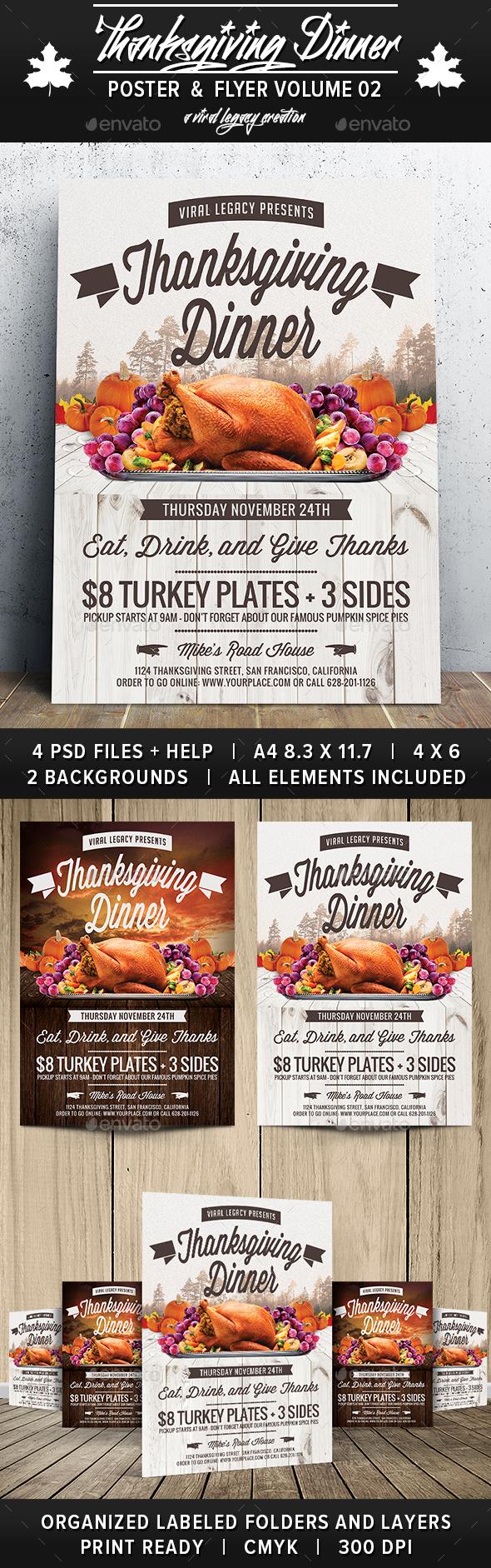 Thanksgiving Dinner V02 - Flyers Print Templates