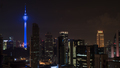 Kuala Lumpur night cityscape with Menara KL Tower - PhotoDune Item for Sale