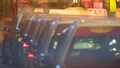 Row of taxi cars in night street - PhotoDune Item for Sale