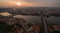 Aerial view of Prague and Vltava river at sunset - PhotoDune Item for Sale