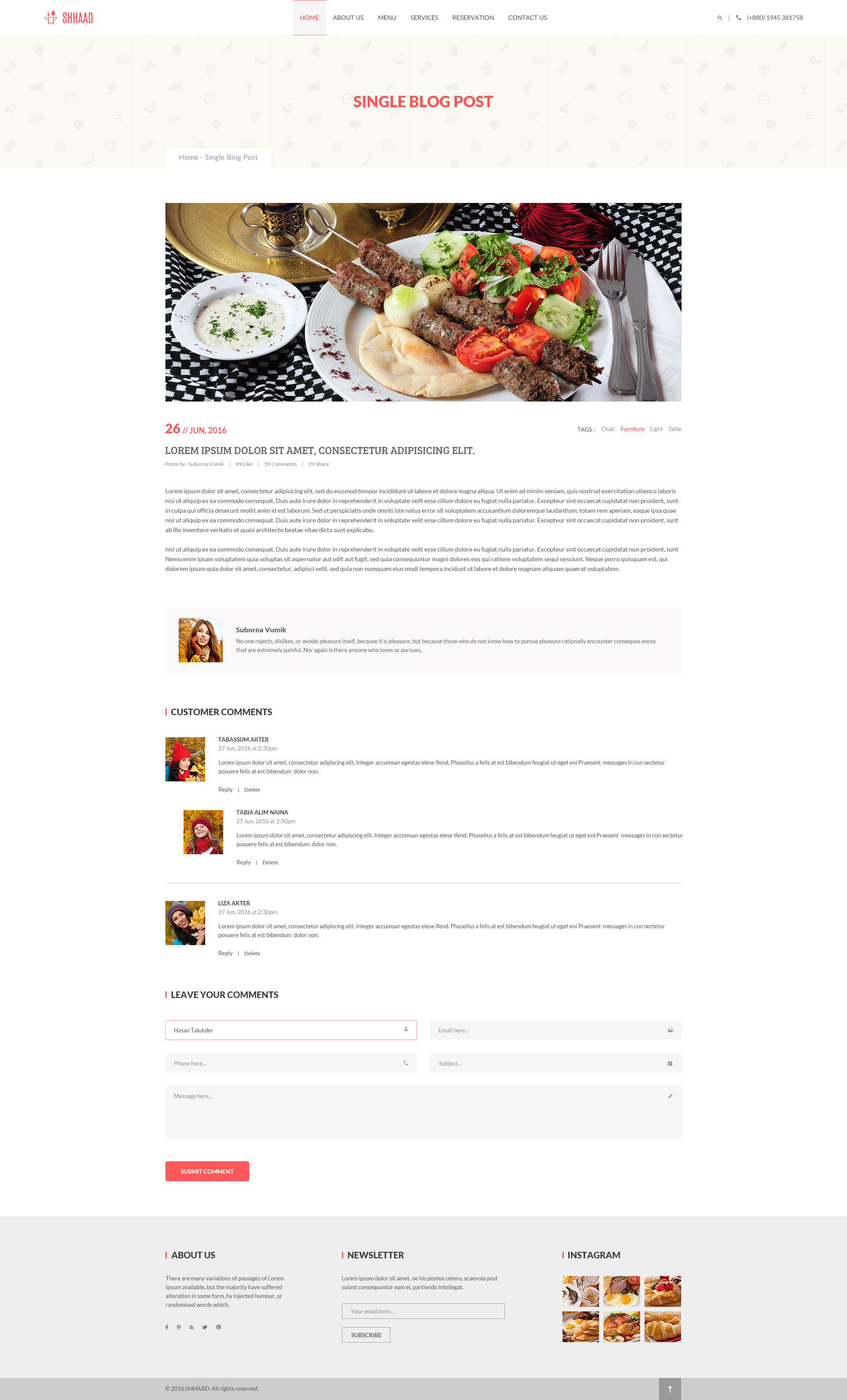 One Page Restaurant Menu Templates Themeforest