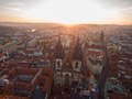Old Town of Prague with Gothic Church, aerial view - PhotoDune Item for Sale