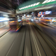 Traveling by tram in Hong Kong at night - PhotoDune Item for Sale