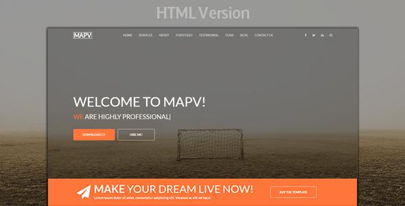 MAPV - Responsive Portfolio Template