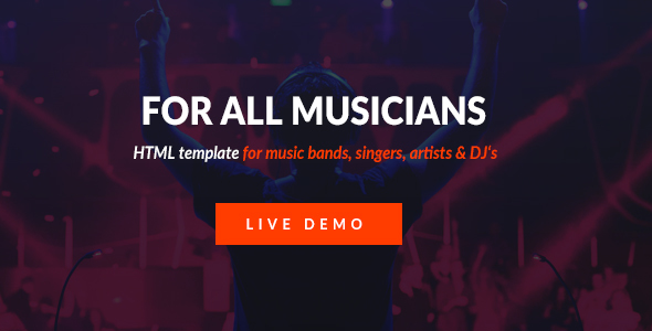 Mizer - Musicians, Deejays, Singers, Bands HTML template - Music and Bands Entertainment
