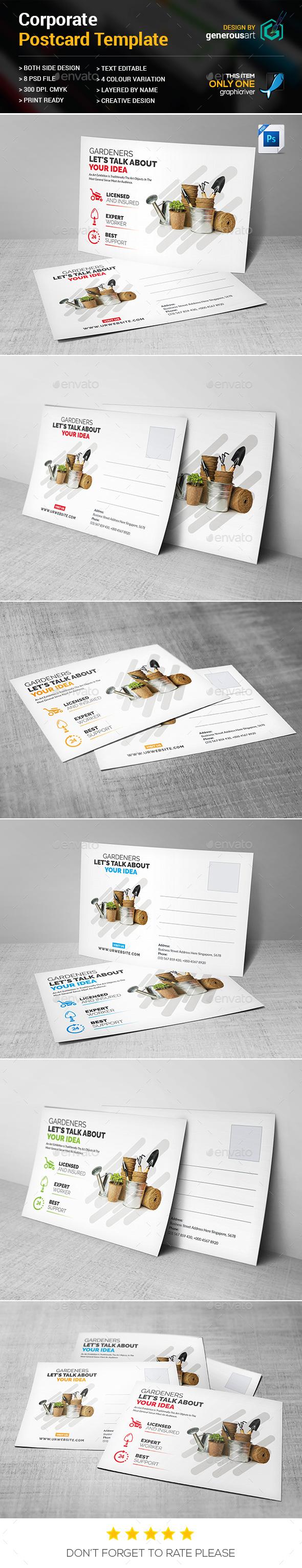 Gardeners Postcard - Cards & Invites Print Templates