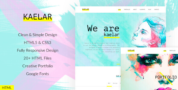 Kaelar – Watercolor HTML5 Template