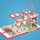 Low Poly Office on phone screen - 3DOcean Item for Sale