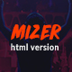 Mizer - Musicians, Deejays, Singers, Bands HTML template - ThemeForest Item for Sale