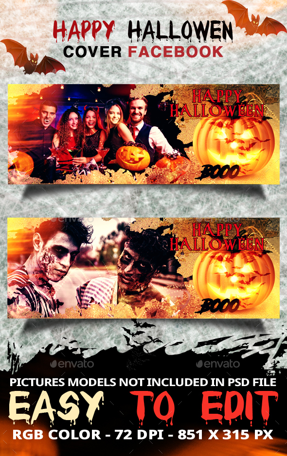 Happy Halloween - Cover Fb - Web Elements