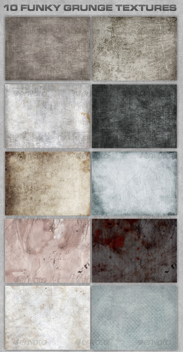 10 Funky Grunge Textures - Miscellaneous Textures