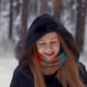 Beautiful Girl Smiling Flirting And Playing Snowballs - VideoHive Item for Sale