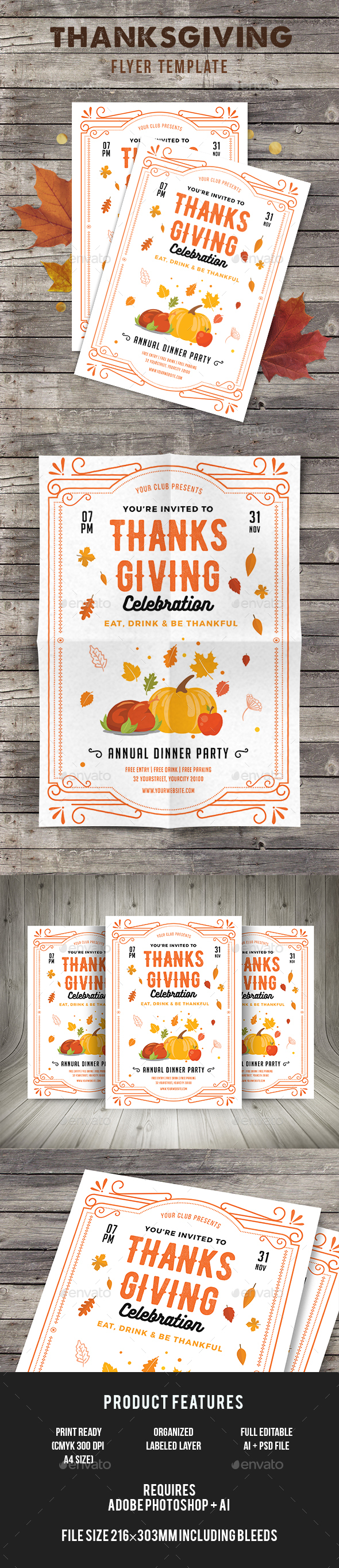 Thanksgiving - Events Flyers